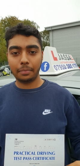 Congratulations Dylan on passing your Driving Test on 1st attempt! Only 4 minors! Uxbridge..<br />
