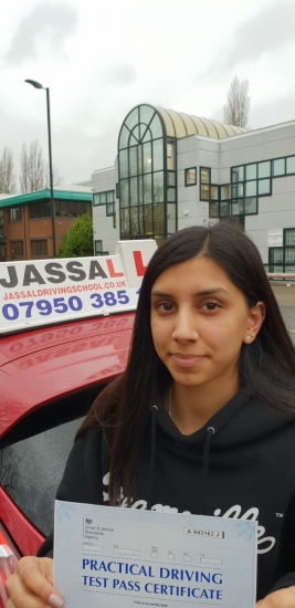 Congratulations to Reena who passed her Driving Test on 1st attempt in Slough!..<br /> Sukh Jassal helped me pass my driving test first time! <br /> He made the lessons engaging and enjoyable yet very informative and also helped cover any theory content that I was uncertain on. <br /> Sukh gave feedback throughout and after the lessons, followed by more efficient techniques and encouragement. Remaining professio