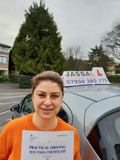 Congratulations Tugba on passing your Driving Test! Only 5 minors! Uxbridge..