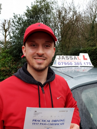 Congratulations Josh on passing your Driving Test on your 1st attempt! Only 3 minors! Uxbridge..<br />