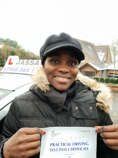 Congratulations Millie on passing your Driving Test! Uxbridge..<br /> Thanks so much Jassal. I couldn´t have asked for a better instructor, you´re good at your job. Will definitely recommend u.
