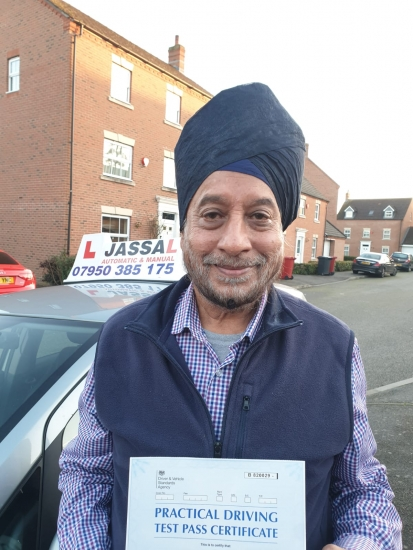 Congratulations Davinder on passing on 1st time attempt with Jassal Driving school. Only 4 minors in Slough..Thanks Jassal it was really nice to have lessons with you. I had proper training from yourself & I was well prepared for my test which I passed today. Jassal was friendly and made learning easy and fun for me. Thanks alot.