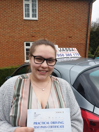Congratulations Chloe on passing your Driving Test in Uxbridge!
