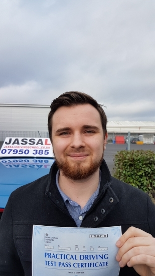 Congratulations Jacob on passing your Driving Test in Uxbridge<br />