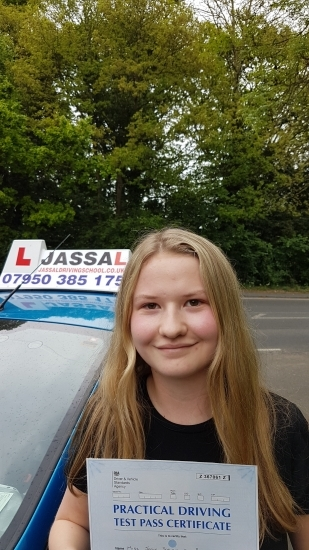 Congratulations Jodie on passing Driving Test 1st Time Slough<br /> <br /> Thank you Jassal for insuring that I passed first time each lesson was informative and helpful I got feedback after each lesson to help me improve my driving I would recommend Jassal as he is a very good driving instructor Thank you again for all your help All the best Jodie
