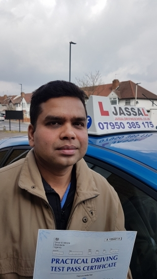 Congratulations John on passing your Driving Test! Only 4 minors! Southall