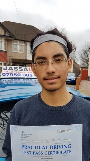 Congratulations Jonathan on passing Driving Test Uxbridge