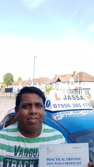Congratulations Joseph on passing your Driving Test today Southall<br /> <br /> Thanks Jassal itacute;s was really good I really enjoyed my classes with you I will recommend you to my friends also in futurethx a lot