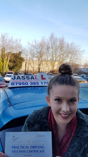 Congratulations Kirsty on passing Driving Test on 1st attempt with only 4 minors Slough <br /> <br />  Hi Sukh thanks for all your help over the past few months with my lessons You made the lessons enjoyable and I felt comfortable on the roads You gave me great useful feedback after each lesson which gave me targets to reach in time for my practical test I would definitely recommend you to other peopl