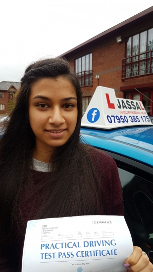 Congratulations Komal on passing Driving Test on your 1st attempt Only 2 minors Slough<br />