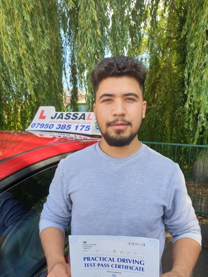 Congratulations Abdul on passing your driving test today in Hayes!..<br />