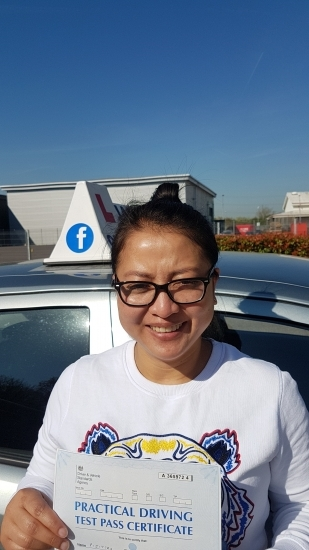Congratulations Pijittra on passing your Driving Test today! Only 5 minors! Uxbridge..<br /> Sukh Jassal is a great instructor. Very patient and calm. Makes you feel comfortable quickly and very supportive. Great to talk to. Thank you so much for your help! Have recommended to friends and family.