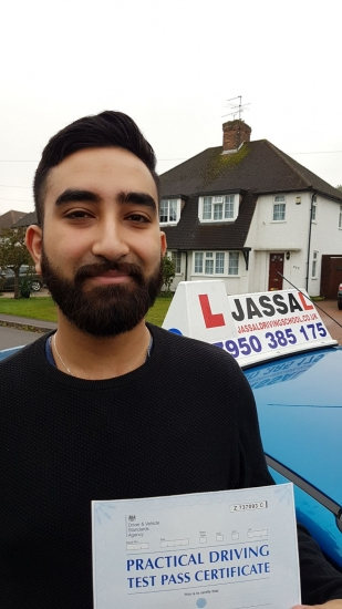 Congratulations Rahul on passing your Driving Test on your 1st attempt Uxbridge<br /> <br /> Sukh has helped me gain a lot of confidence in my driving as each lesson progressed by helping me to do each manouevre to near perfection The lessons were consistent and I was given plenty of time to practice before my test as Sukh prepared me very well with various routes and things that can come up on the test