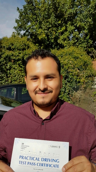 Congratulations Raul on passing your Driving Test on your 1st attempt in Slough Only 4 minors <br /> <br /> <br /> <br /> Hi Sukh<br /> <br /> I enjoyed having you as my driving instructor You were constantly giving me feedbacks to help me improve my driving and I felt very confident in every lesson that I had with you<br /> <br /> <br /> <br /> I will positively recommend you to others <br /> <br /> Regards Raul