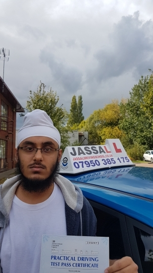 Congratulations Shyam on passing your Driving Test Slough