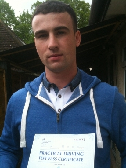 Congratulations Brian on passing Test on 1st attempt Uxbridge