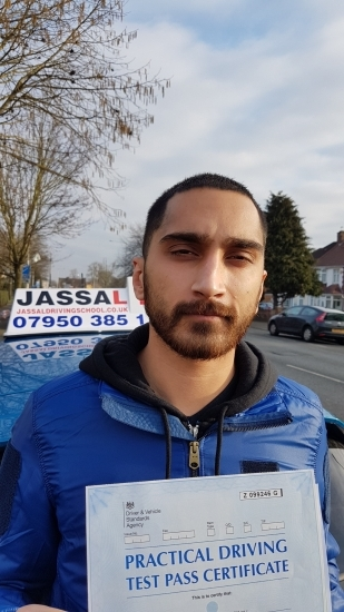Congratulations Vijay on passing Driving Test on 1st attempt Hayes<br />