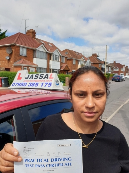 Congratulations Alka on passing your Driving Test in Slough!. Only 3 minors!<br />