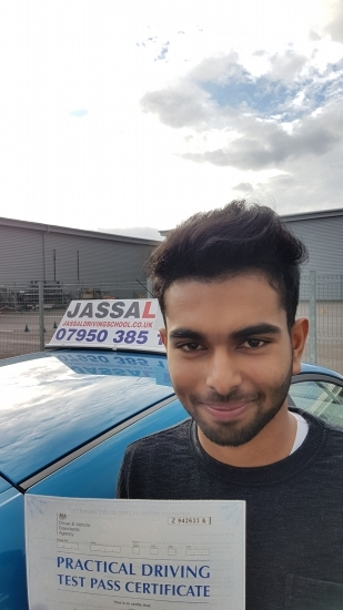 Congratulations Acheen on passing your driving test Uxbridge<br /> <br /> I just wanted to say a massive thank you to Jassal for getting me through my test and for the encouragement you provide when I felt like I wasnacute;t doing very well I would absolutely recommend you to anyone as they will learn not just to drive and pass the test but to stay safe on the road and what the most efficienteffective