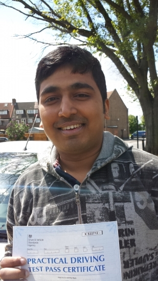 Congratulations Dinesh on passing Test 1st time Only 2 minors Isleworth<br /> <br /> Hi MrJassal<br /> <br /> My special thanks to Jassal for his guidance throughout the training sessions and helping me Pass my driving Test on my first attempt with only 2 minors<br /> <br /> Before joining Jassal driving lessons I had been driving in India for around 11 years However after having my driving lessons I have improved my dri