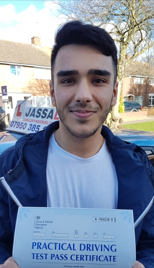 Congratulations Justin on passing driving test Only 1 minorHayes <br /> <br /> I have had driving lessons with Jassal and during that time I have learnt skills that helped me pass my driving test and are transferable in day-to-day driving Jassal tailors his lessons around your needs so that you can learn best and be comfortable when driving on the road I would highly recommend Jassal driving school t