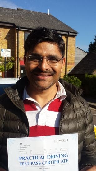 Congratulations Pranay on passing Test Isleworth