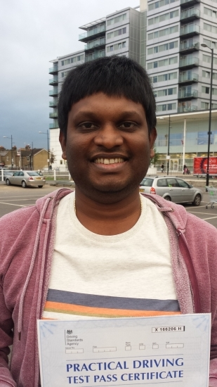 Hi Sukh<br /> <br /> Many thanks for your help and support in helping me to pass the test Your rich experience and expert advise really helped I would highly recommend you to anyone who wants focussed driving lessons <br /> <br /> Regards Venkat