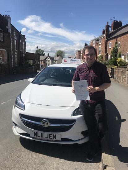 Well done to George who passed in the sunshine today in Wrexham. So pleased for you. You can now swap your two wheels for four! Safe driving 🚗