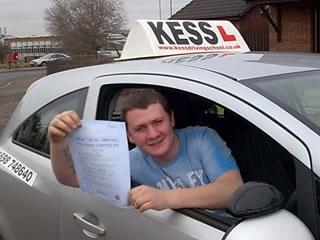 My mother passed first time with Kess driving school about 14 years ago So she recommended kess to myself On my first test I made one silly mistake but on the rest of my drive it was at a high standard I have passed now I would recommend Kess driving school