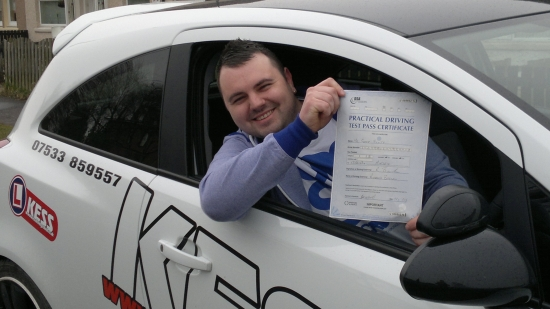 I just wanted to say big thank you to my driving instructor Eamon He was very helpful in making me pass my driving test first time I was not expecting to pass first time but Eamon helped me a lot and made me correct all my mistakes before my test day I would strongly recommend KESS He also has a lot of tips which are actually very helpful in making you a more confident driver Thank you Eamo