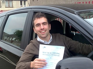 Congratulations to Tony Coccoran who passed first time The drive was good enough to easily pass an advanve driving test He started lessons on the 1st of June and passed on the second of August just in time to leave for America to continue University studies Well done Tony
