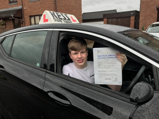 Congratulations to James brilliant drive had a very good pass