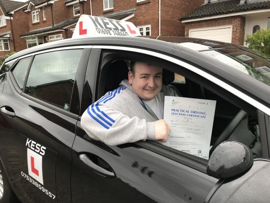 Congratulations to Michael good drive good pass