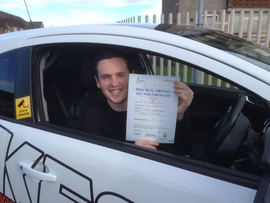 A massive thanks to Eamon for helping me to pass the driving test first time<br />