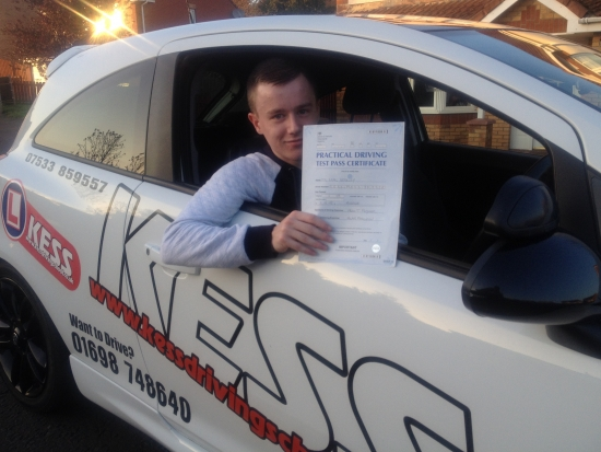 Thanks to Eamon I passed my test first time I would recommend KESS Driving to anyone Eamon is a great driving instructor and helps you gain a lot of confidence when driving<br />