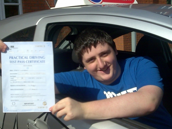 I had a brilliant drive and passed with ease with only two minors