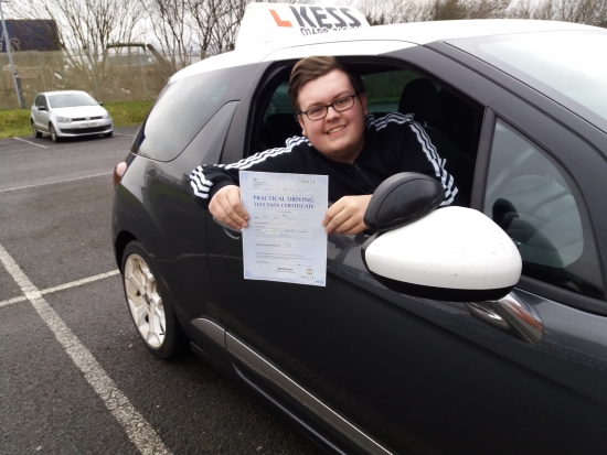 Thank you Eamon for helping me to learn to drive and pass first time <br />