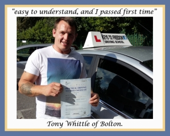 Driving school Bolton review.