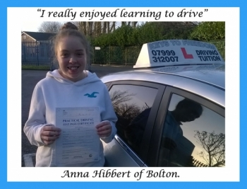 Driving school review, by Anna Hibbert of Bolton.