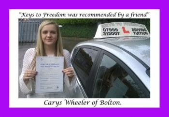 Driving school review, by Carys Wheeler of Bolton.