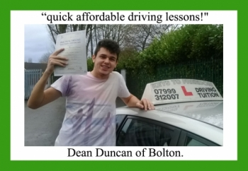 Driving school review, by Dean Duncan of Bolton.