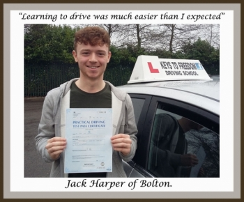 'Learning to drive was much easier than I expected.'