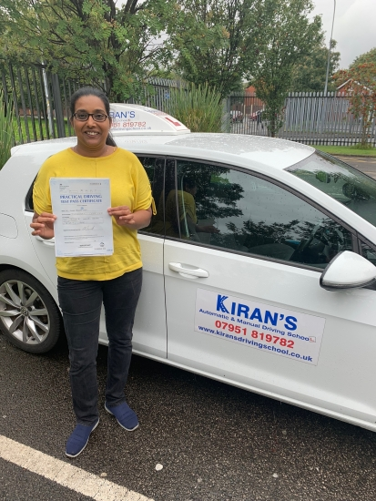Congratulations to Renuka on passing her driving test at bolton test centre first time great drive well done