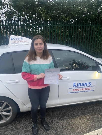 Well done to Mariana on passing her driving test - hope you enjoy your freedom