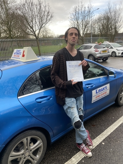 Congratulations to Jamie - passed his driving automatic driving test bolton test centre with 3 minors - 1st time which he only took 15 hours with very little driving experience.