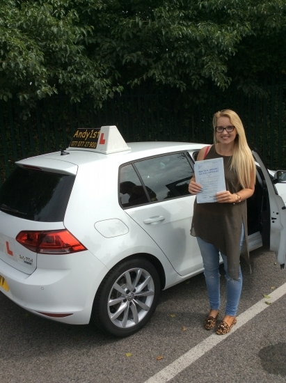 Congratulations to Natasha on passing her driving test at bolton test centre<br /> wishing you many miles of safe driving