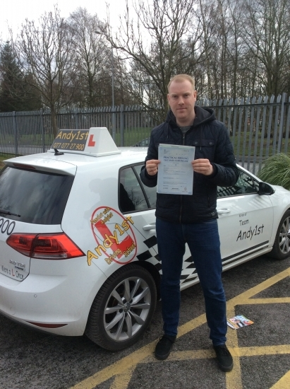 Congratulations to Johnathan on passing your driving test at bolton test centre <br /> wishing you many miles of safe driving all the best