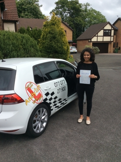 Congratulations to Chloe on passing her driving test at bolton test centre 1st time <br /> wishing you many miles of safe driving