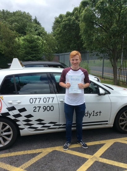 Congratulations to Matthew on passing his driving test at bolton test centre 1st time<br /> wish you all the best with your college exams and many miles of safe driving
