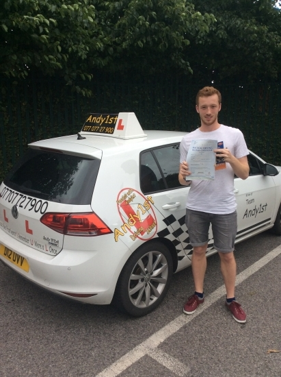Congratulations to Aaron on passing his driving test at bolton test centre 1st time with only 2 minorsgreat drive - well done
